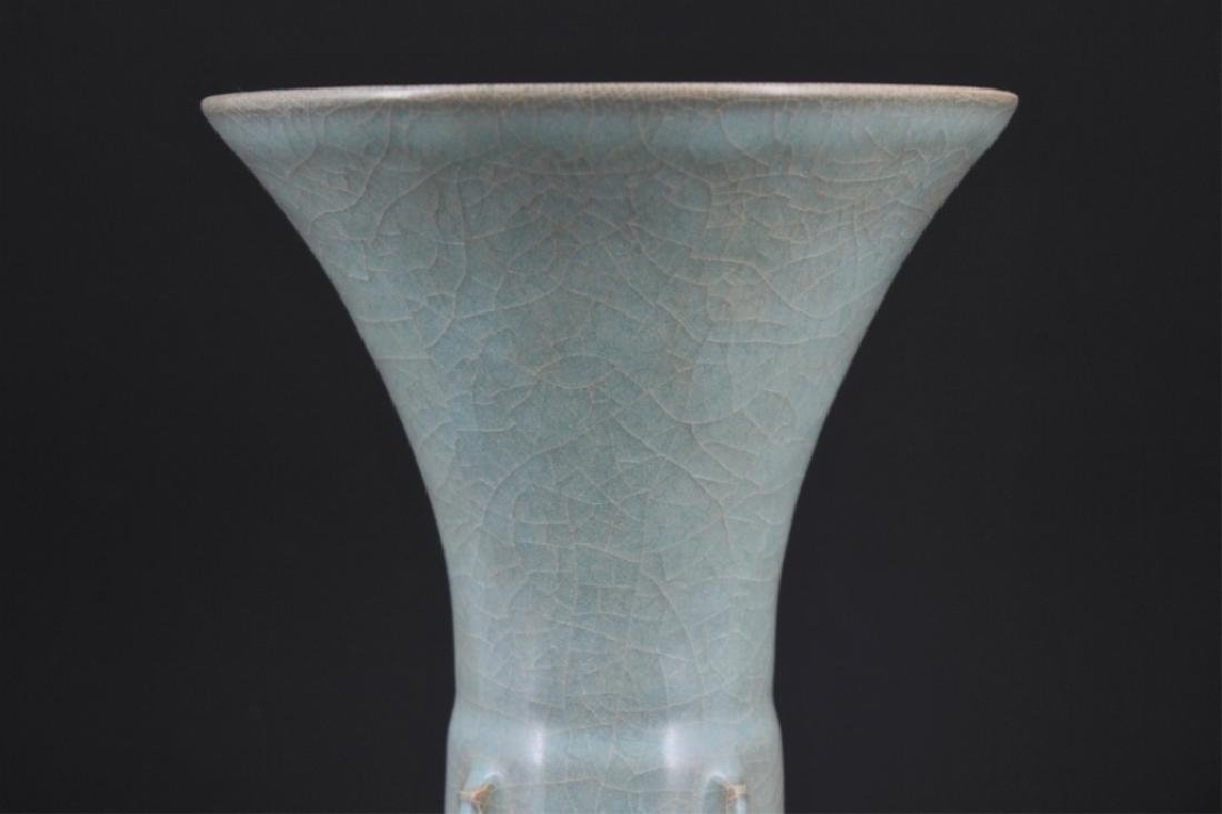 Chinese Song Porcelain Guan Yao Vase - 3