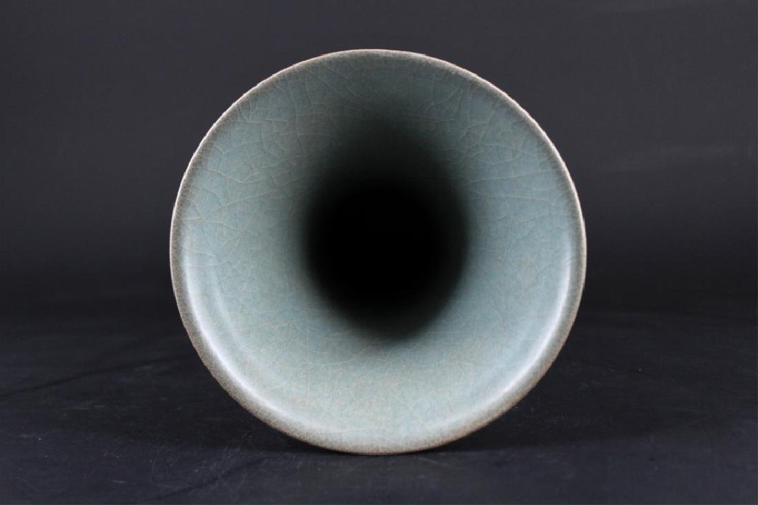 Chinese Song Porcelain Guan Yao Vase - 4