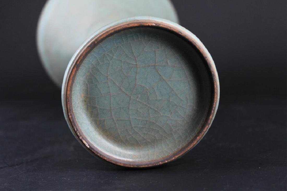 Chinese Song Porcelain Guan Yao Vase - 7
