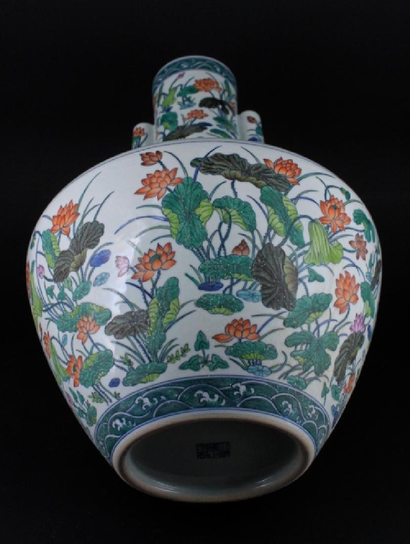 Large Chinese Qing Porcelain Famille Rose Vase - 7