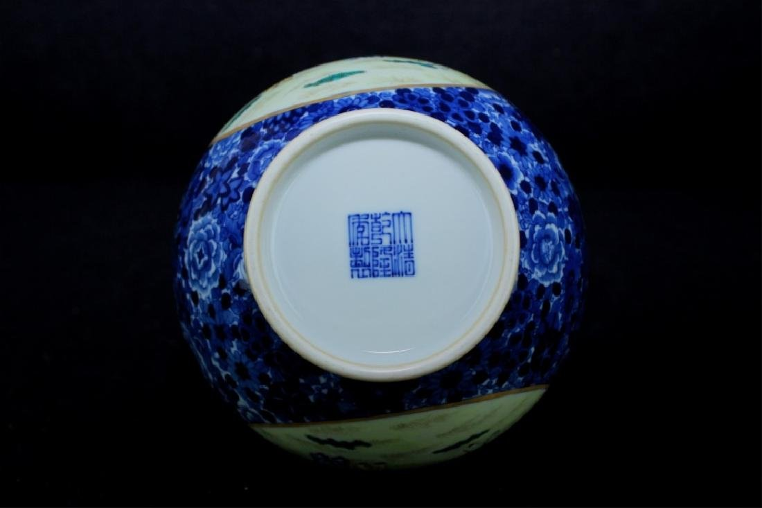 Chinese Qing Porcelain Famille Rose Gourd Vase - 10