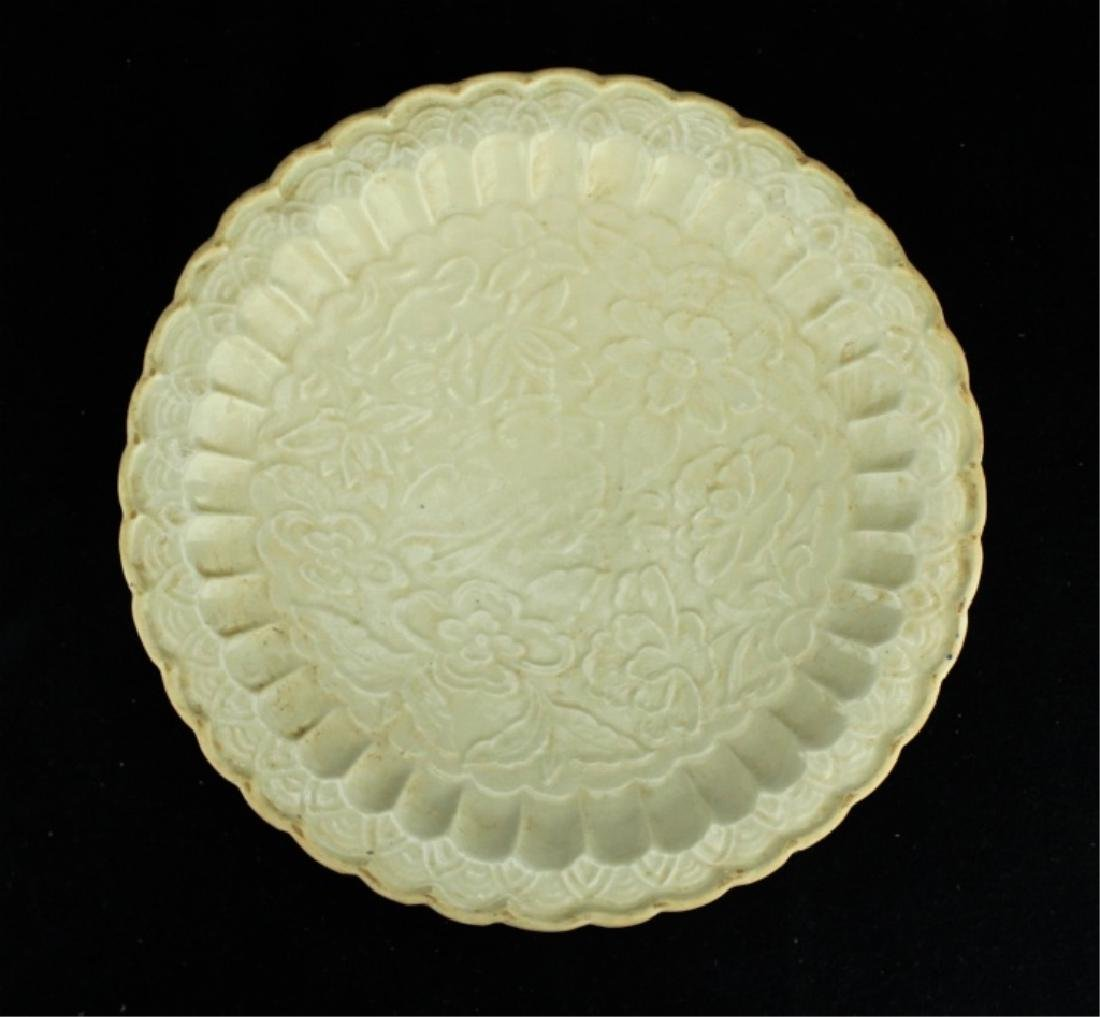 Chinese Song Porcelain DingYao Plate