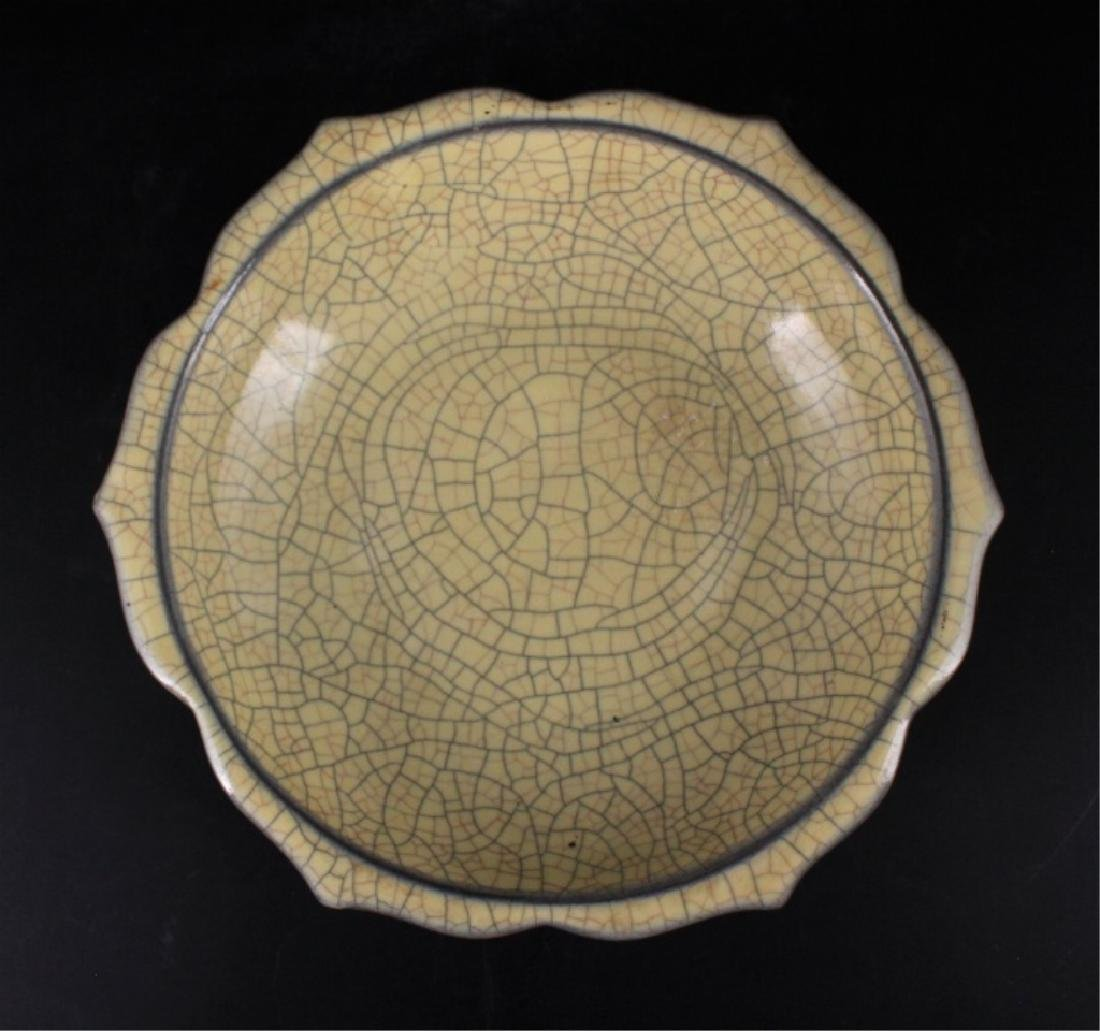Chinese Song Porcelain Geyao Plate