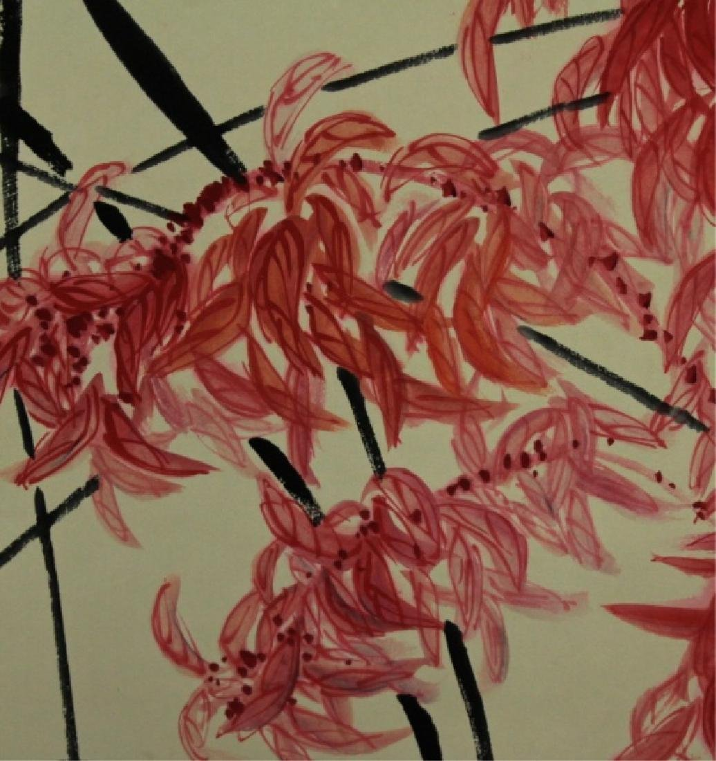 Chinese Scrolled Hand Painting Signed by Qi Bai Sh - 5