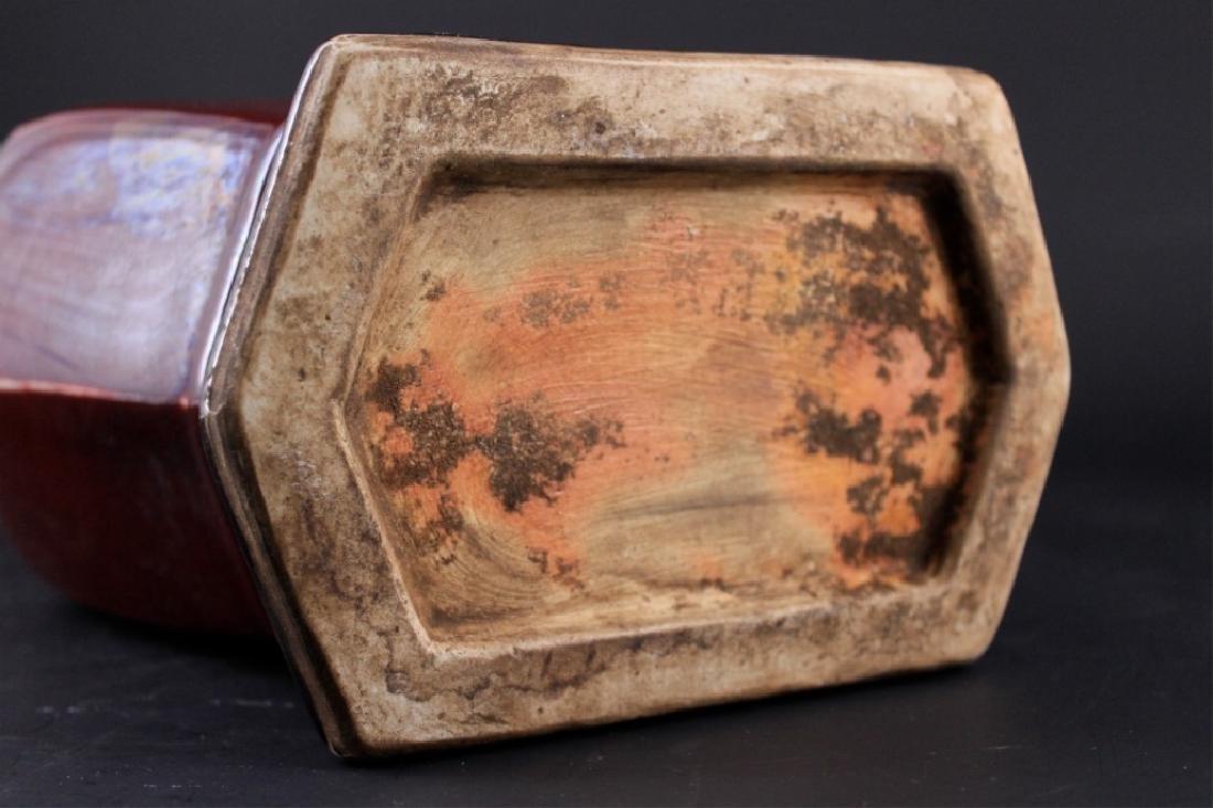 Large Chinese Qing Porcelain Red Glaze Vase - 7