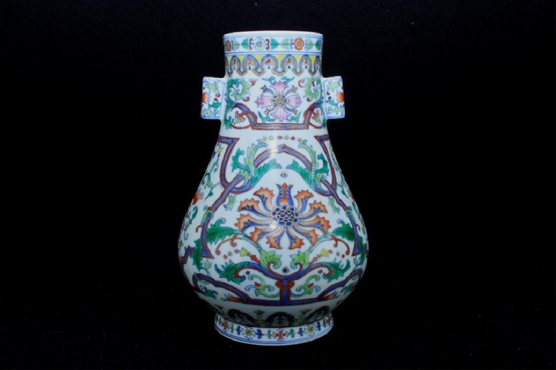 Chinese Qing Porcelain DouCai Vase