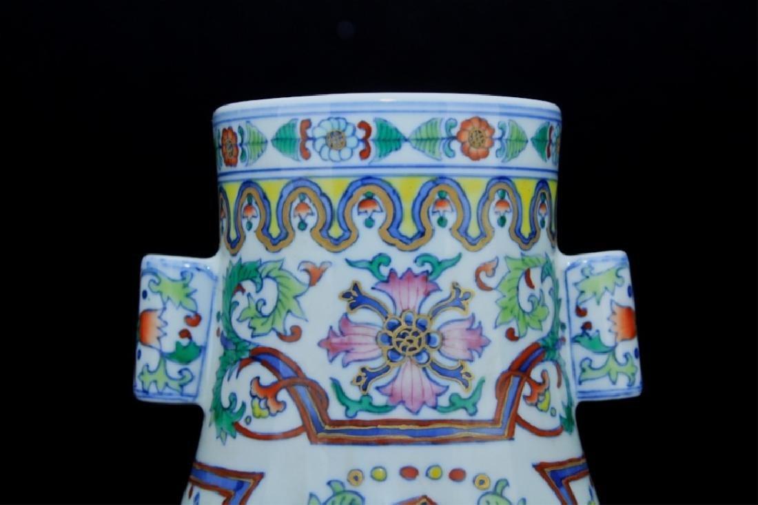 Chinese Qing Porcelain DouCai Vase - 3