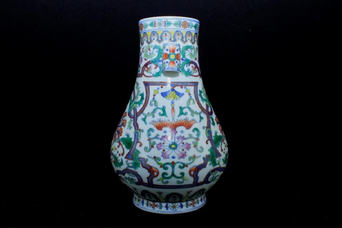 Chinese Qing Porcelain DouCai Vase - 4