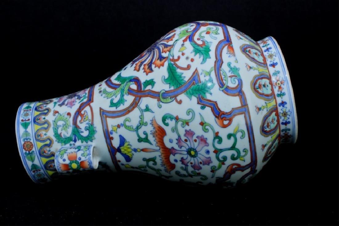 Chinese Qing Porcelain DouCai Vase - 6