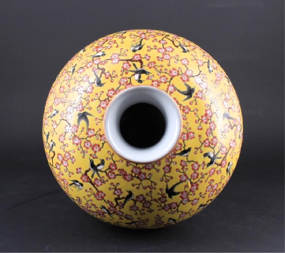 Large Chinese Qing Porcelain Famille Rose Vase - 4