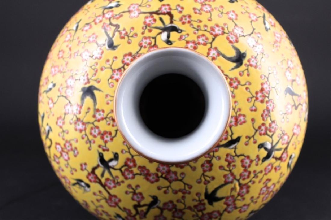 Large Chinese Qing Porcelain Famille Rose Vase - 5