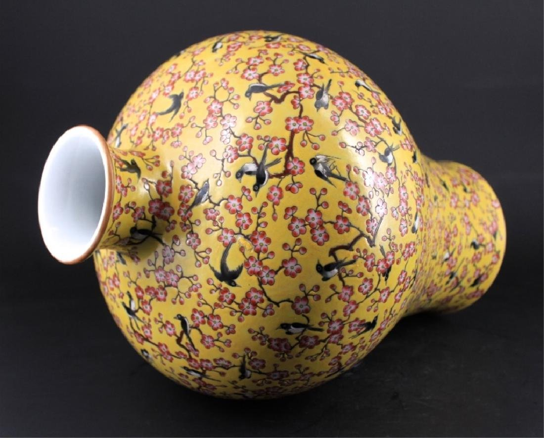 Large Chinese Qing Porcelain Famille Rose Vase - 6