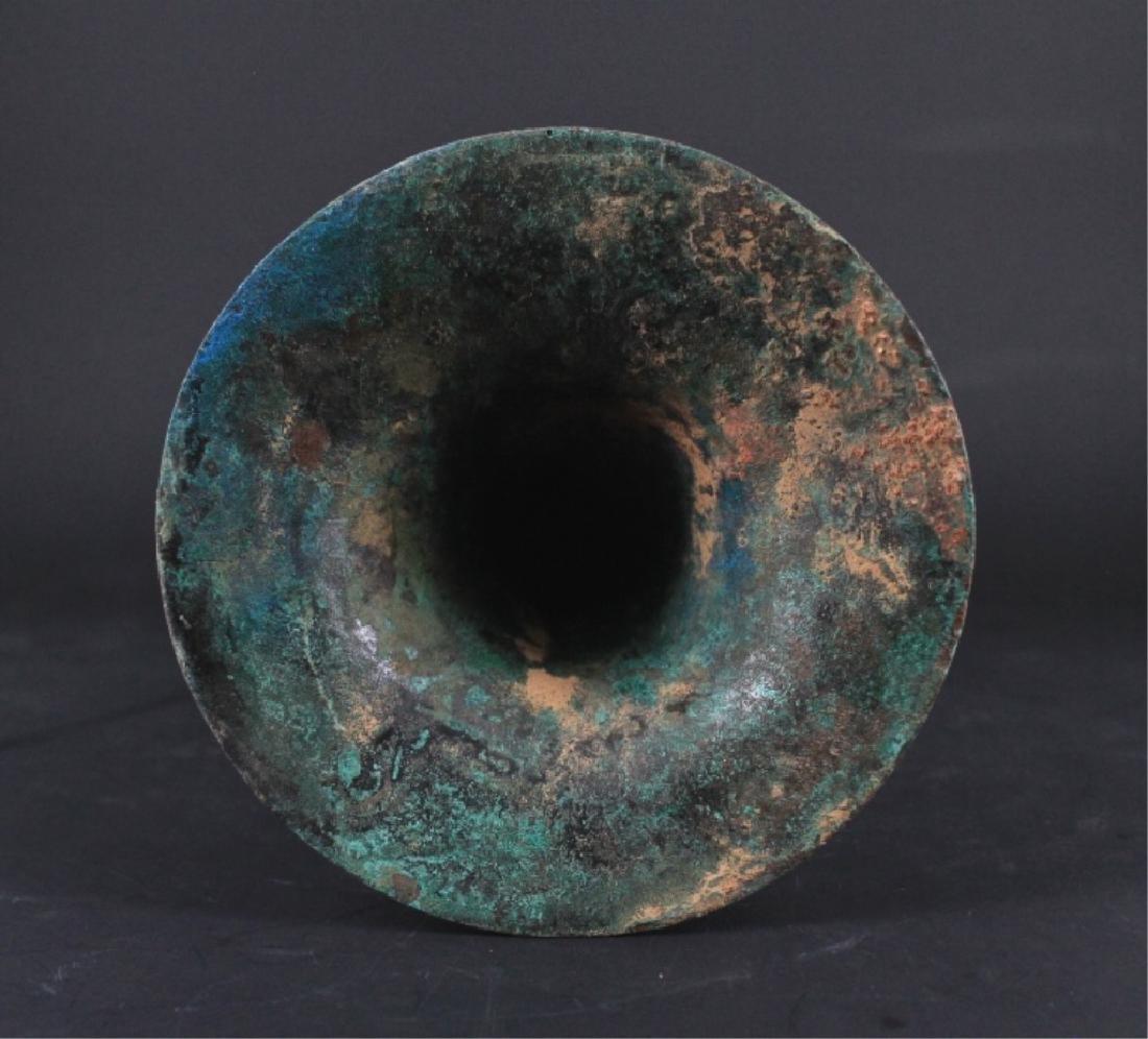 Chinese ZhanGuo Bronze Zhan Cup - 4