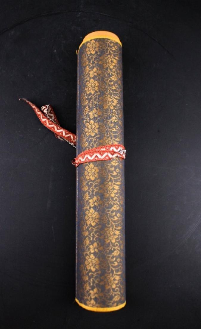Chinese Long Scrolled Painting By Zhang Da Qian