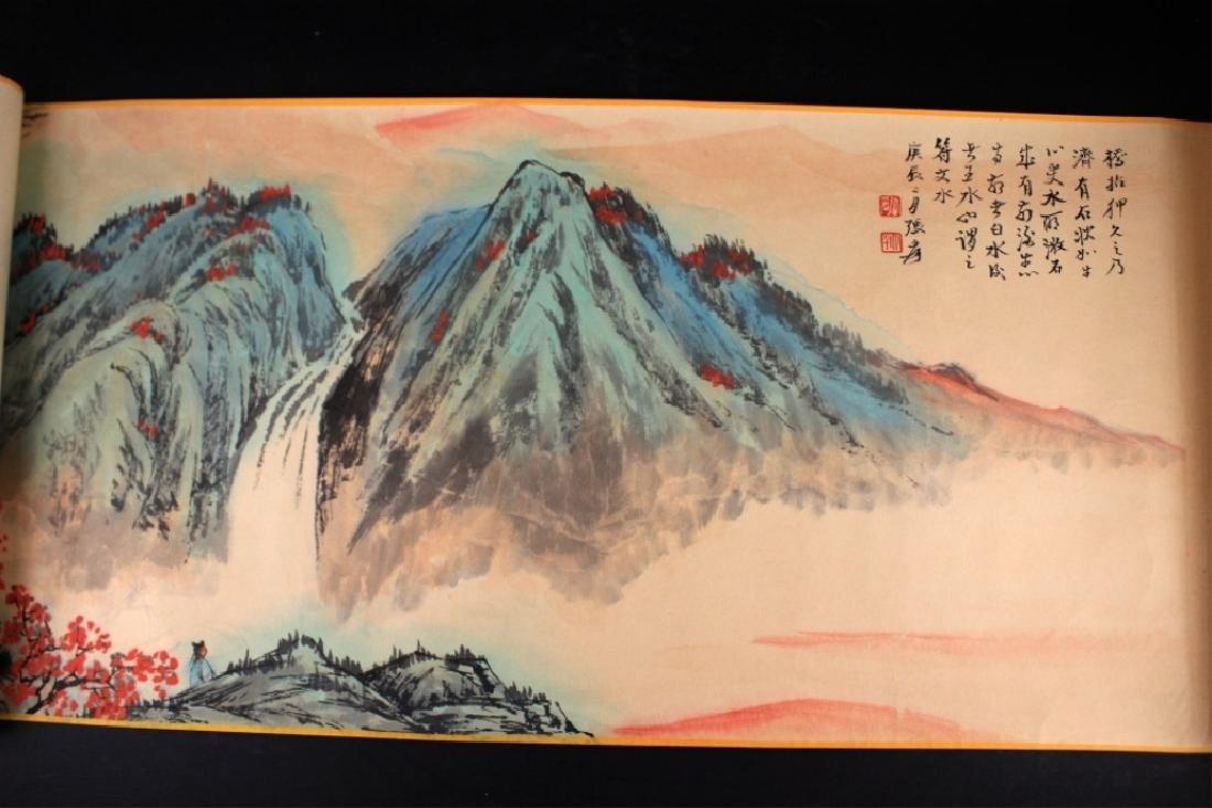 Chinese Long Scrolled Painting By Zhang Da Qian - 3