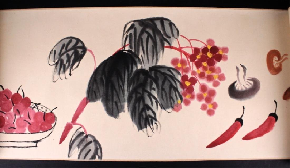 Chinese Long Scrolled Painting By Qi Bai Shi - 3