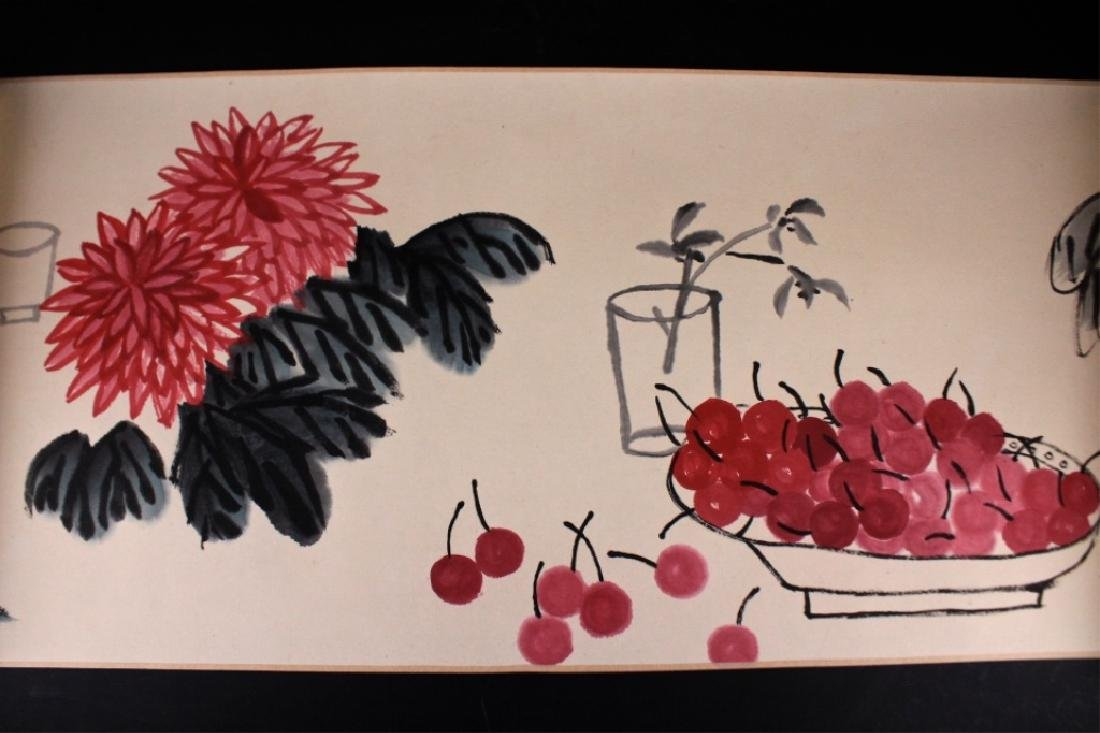 Chinese Long Scrolled Painting By Qi Bai Shi - 4