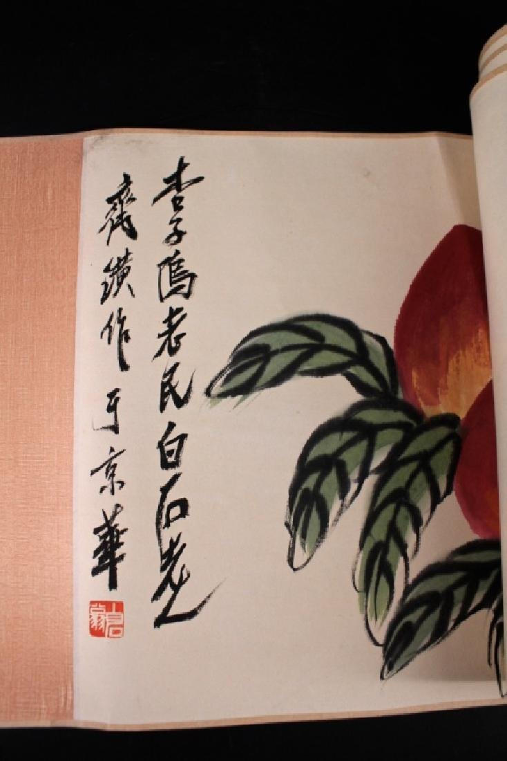 Chinese Long Scrolled Painting By Qi Bai Shi - 6