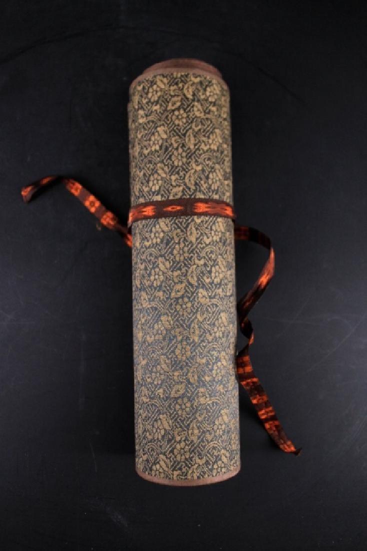 Chinese Long Scrolled Painting By Wang Yuan Qi