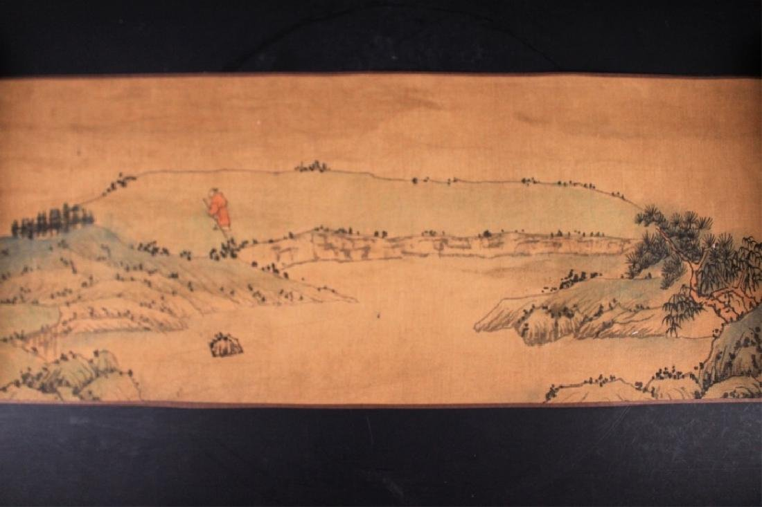 Chinese Long Scrolled Painting By Wang Yuan Qi - 5