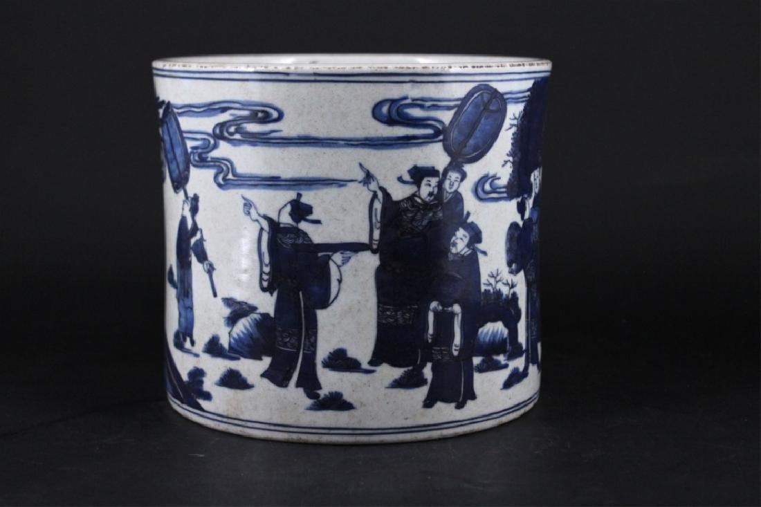 Chinese Qing Porcelian Blue&White Brush Pot