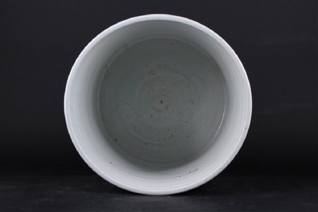 Chinese Qing Porcelain Blue White Brush Pot - 5
