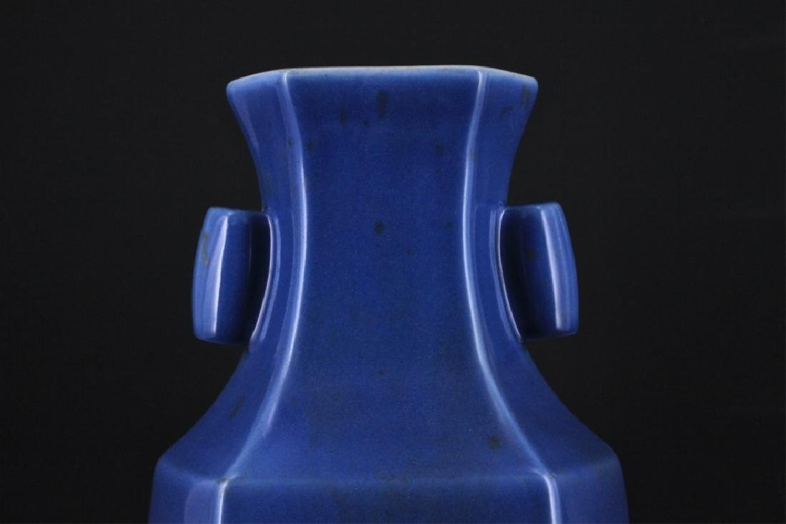 Large Chinese Qing Porcelain Double Ear Vase - 2