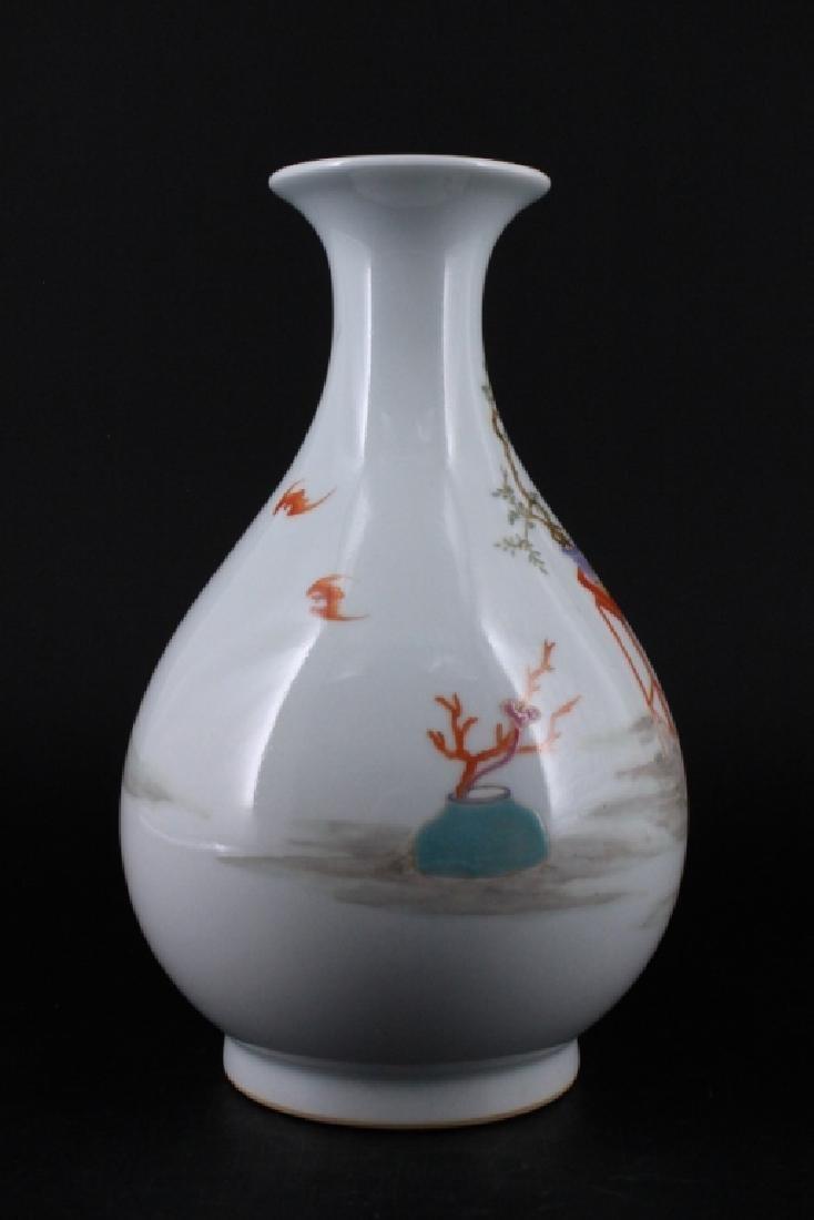 Chinese Qing Porcelalin Famille Rose Vase - 2