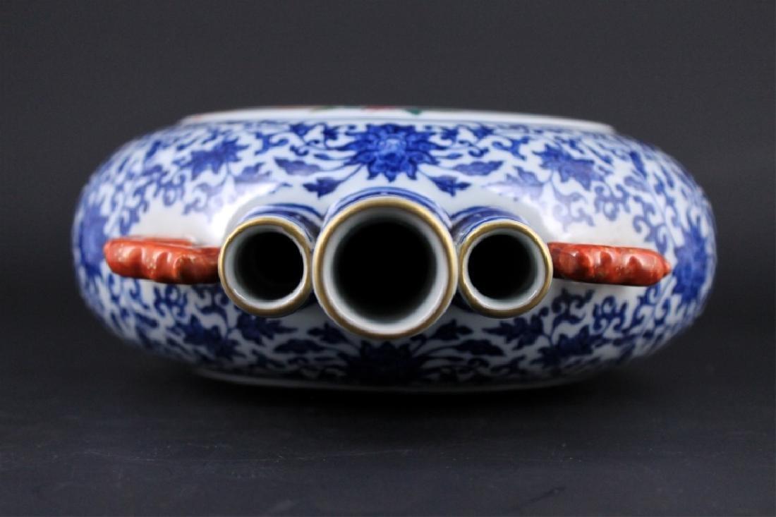 Chinese Qing Porcealin Blue&White Flask - 6