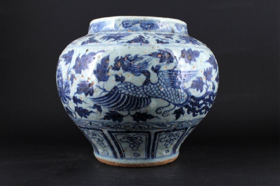 Chinese Ming Porcelain Blue&White Jar