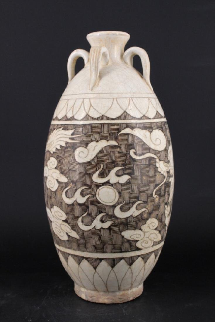 Chinese Song Porcelain Dingyao Vase - 4