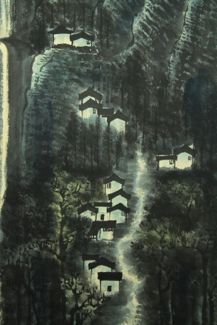 Chinese Scrolled Hand Painting Signed by Li Ke Ran - 6