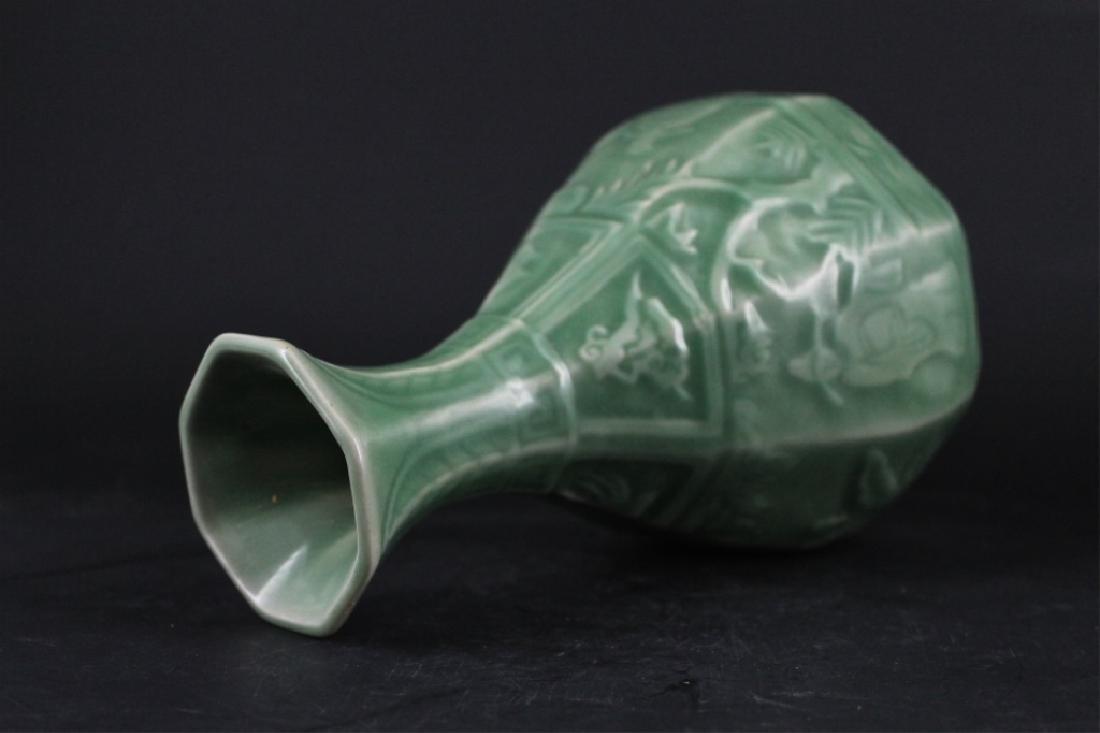 Chinese Ming Porcelain Longquan Vase - 5