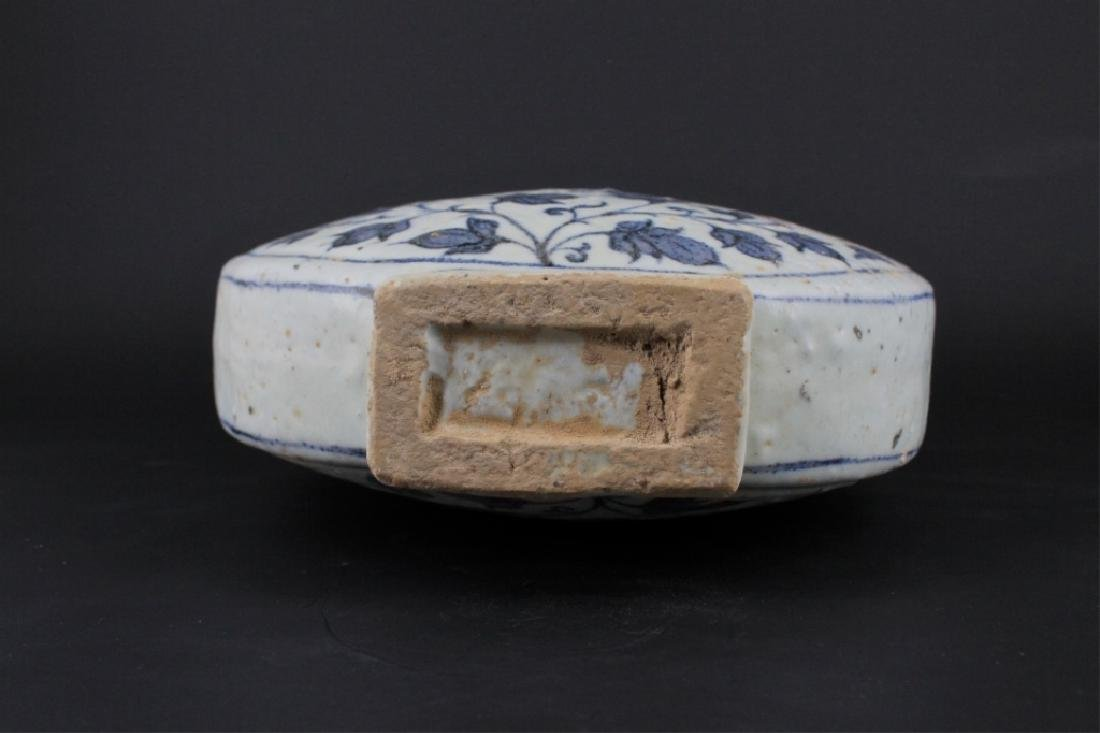 Chinese Ming Porelain Blue&White Moon Flask - 5