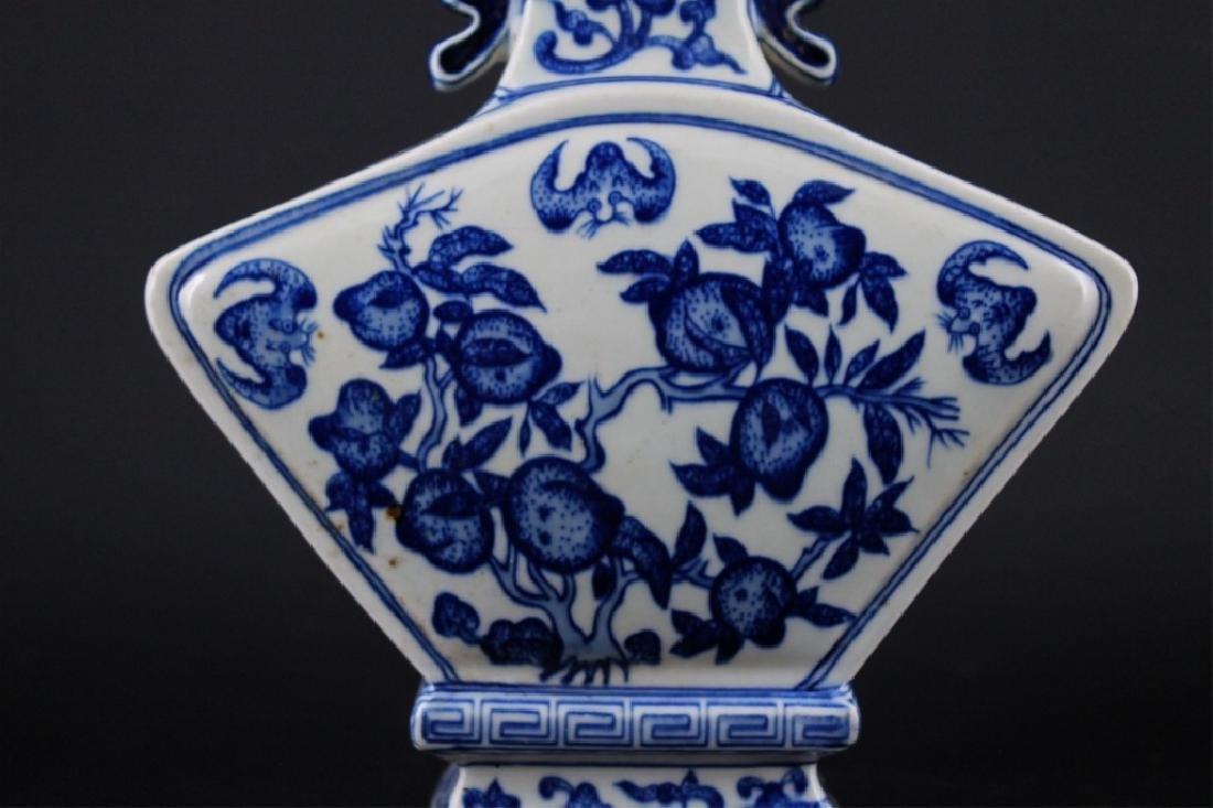 Chinese Qing Porcelain Blue&White Vase - 3