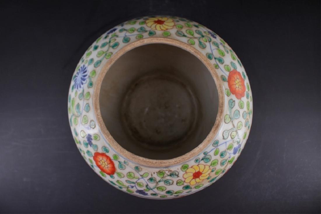 Large Chinese Ming Porcelain DouCai Jar - 4