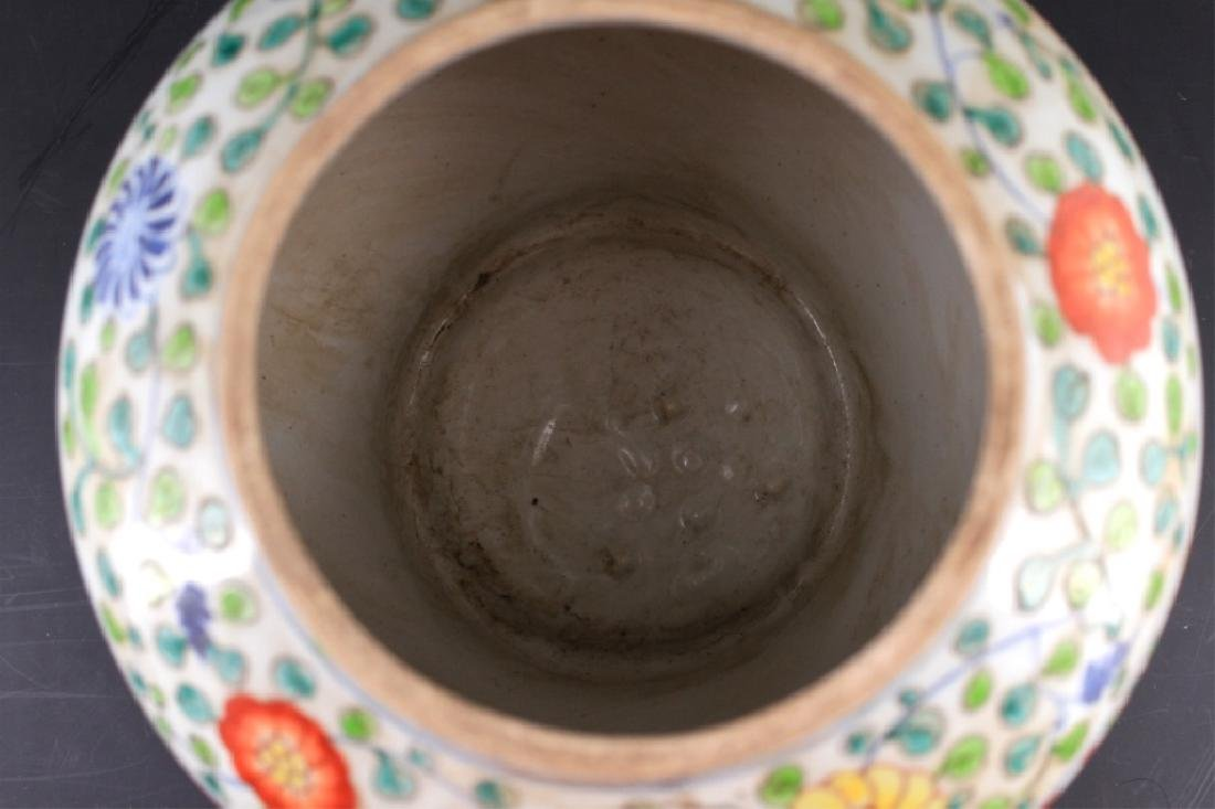 Large Chinese Ming Porcelain DouCai Jar - 5