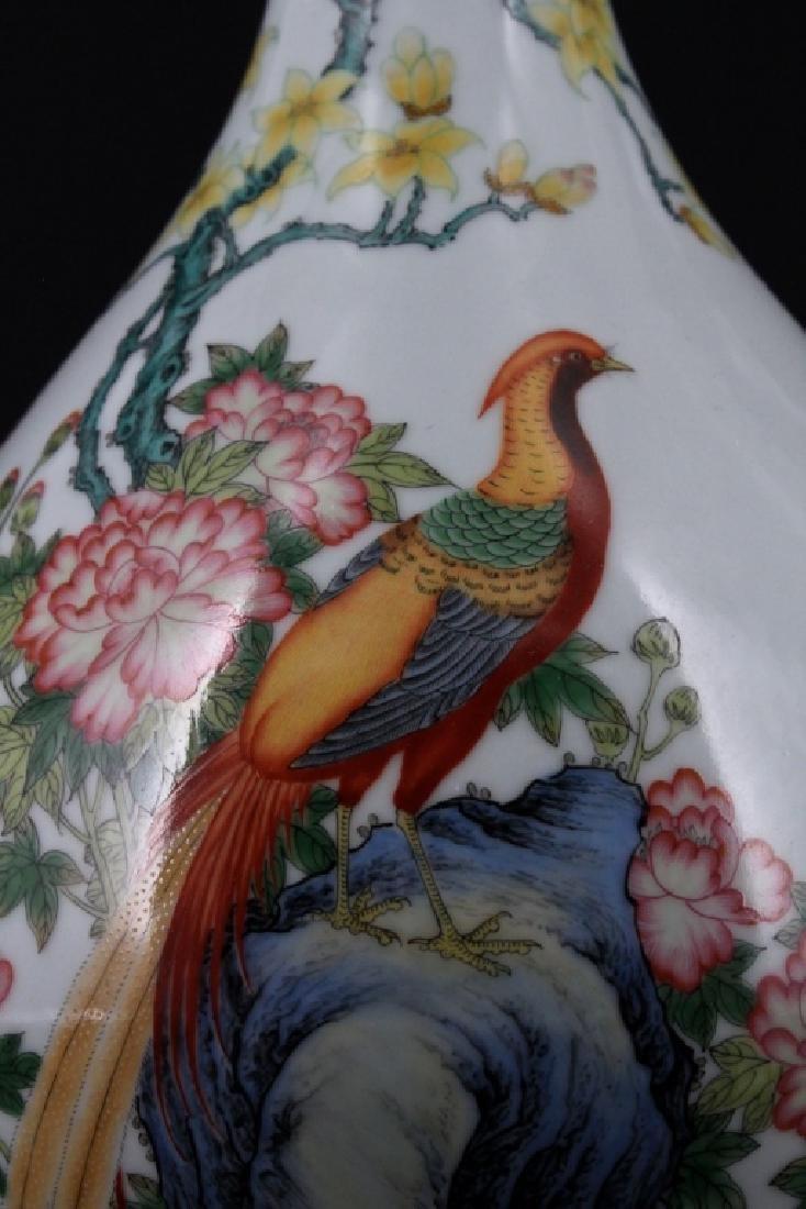 Chinese Qing Porcelain Enamel Vase - 2