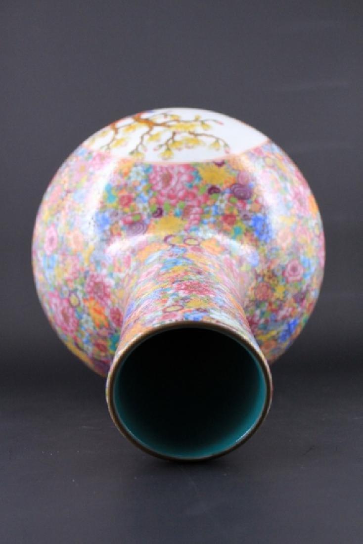 Chinese Qing Porcealin Famille Rose Vase - 7