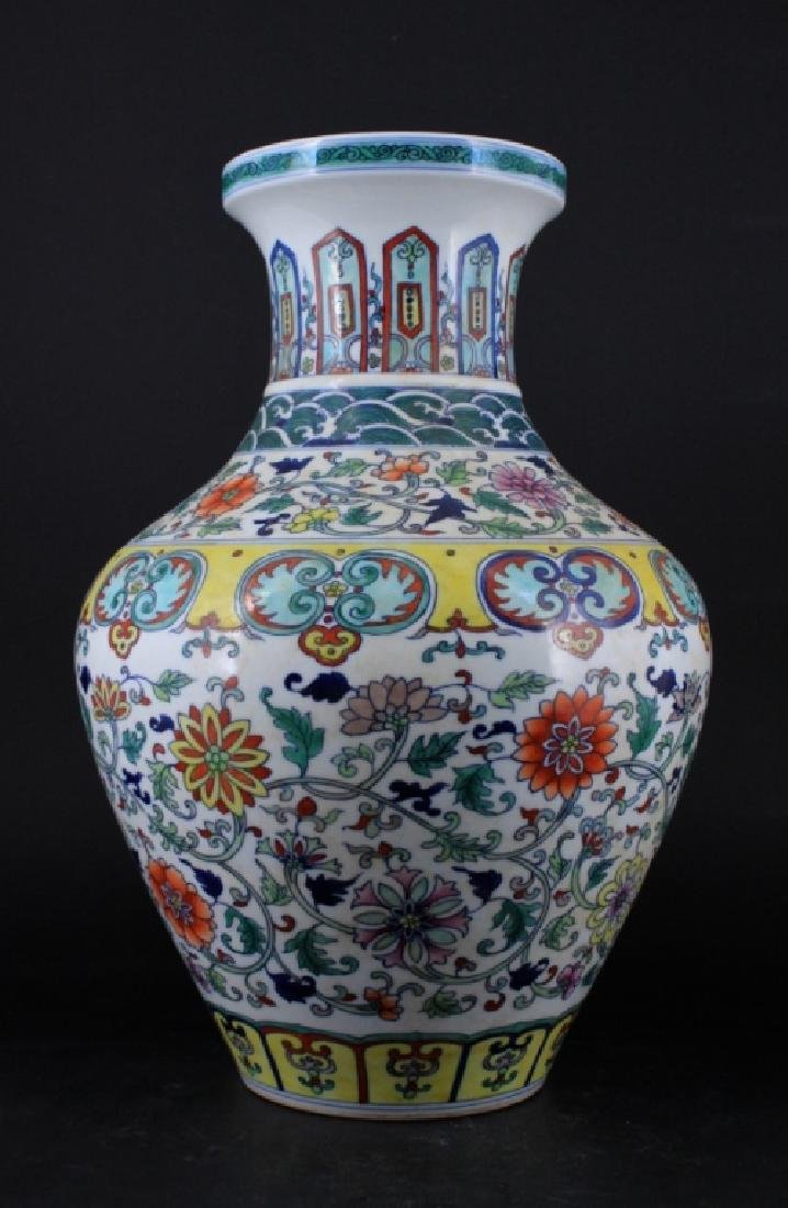 Chinese Qing Porcelain DouCai Vase - 2