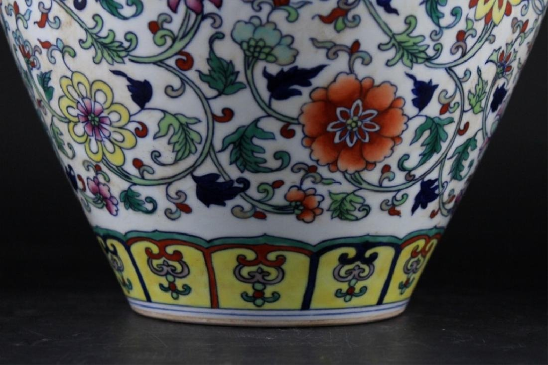 Chinese Qing Porcelain DouCai Vase - 5