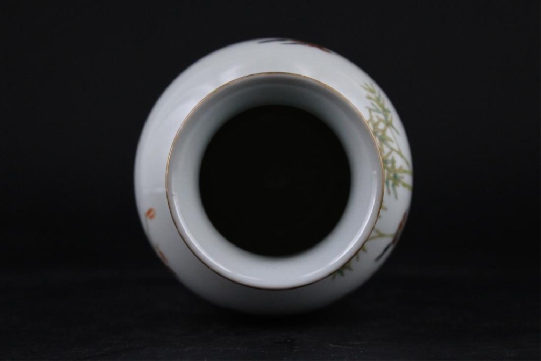 Chinese Qing Porcelain Famille Rose Vase - 4