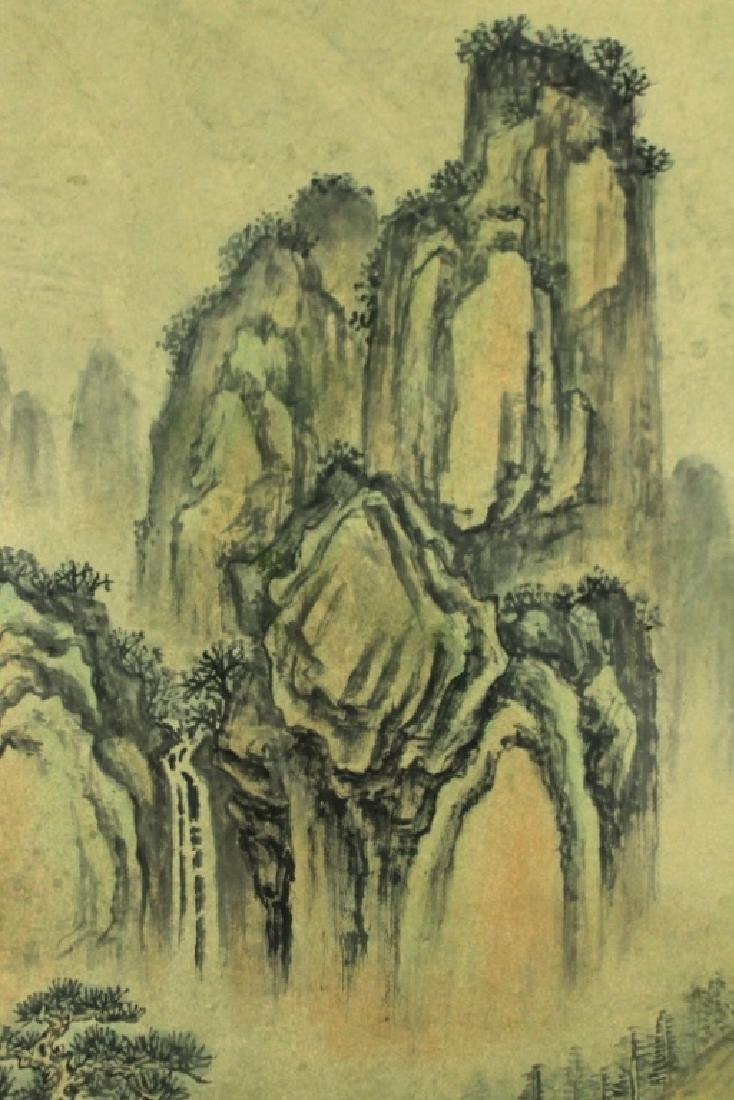 Chinese Scrolled Hand Painting Signed by Shi Tao - 4