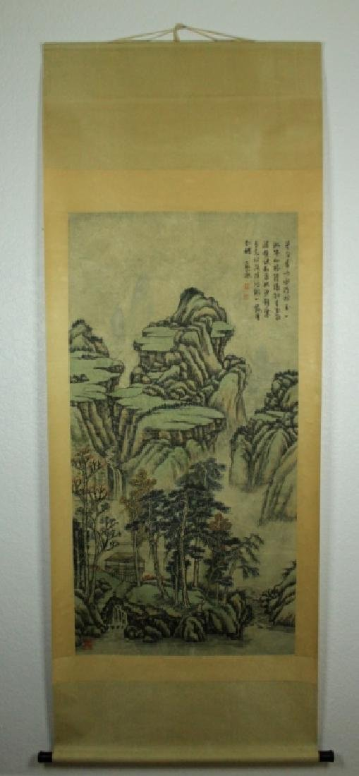 Chinese Scrolled Hand Painting Signed by Shi Tao - 2