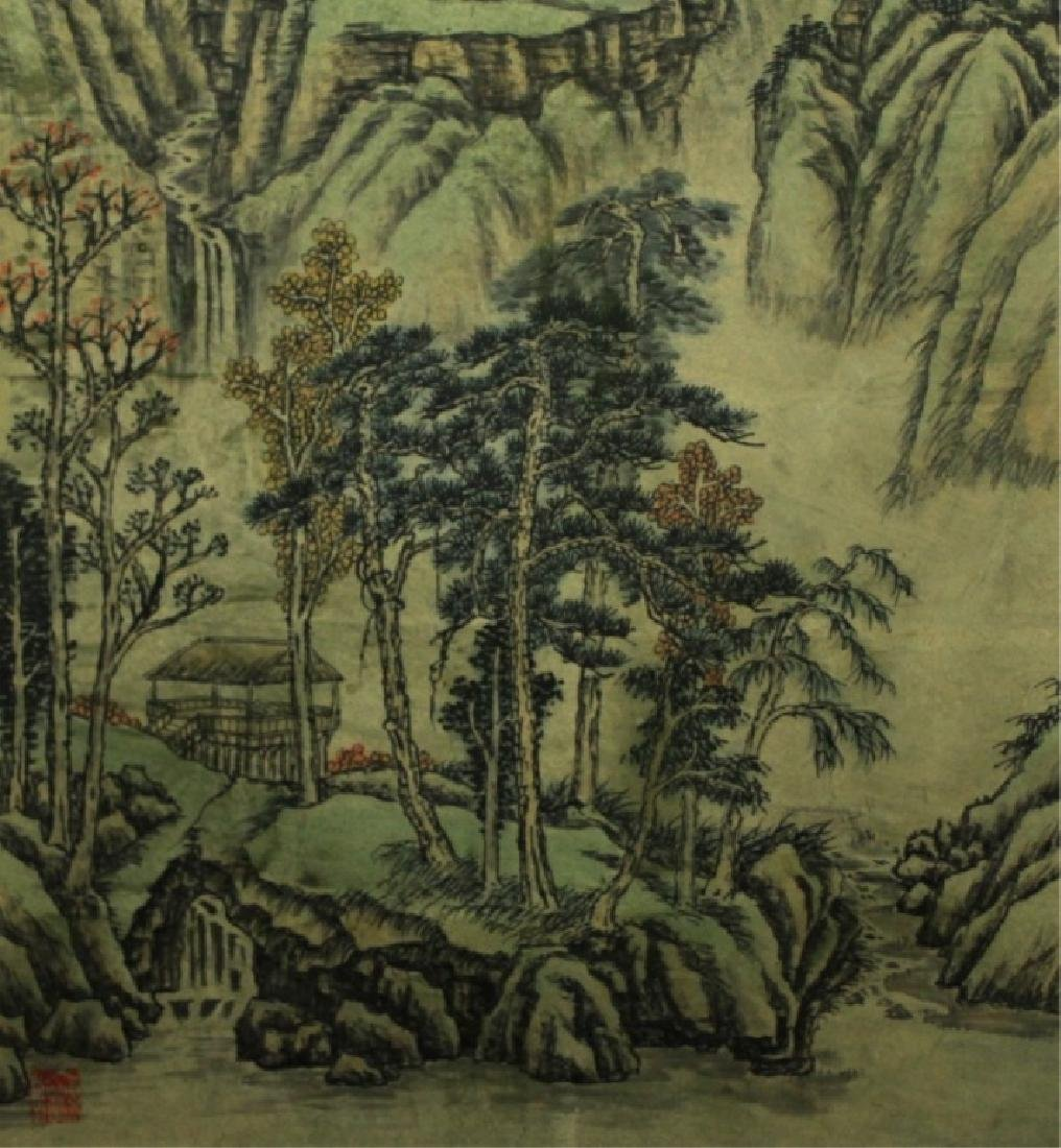 Chinese Scrolled Hand Painting Signed by Shi Tao - 5