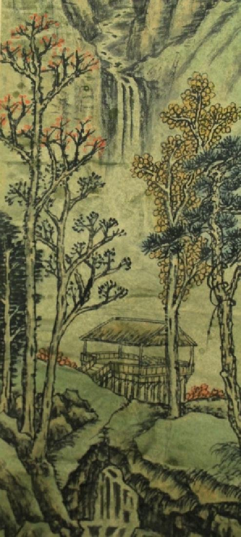 Chinese Scrolled Hand Painting Signed by Shi Tao - 6
