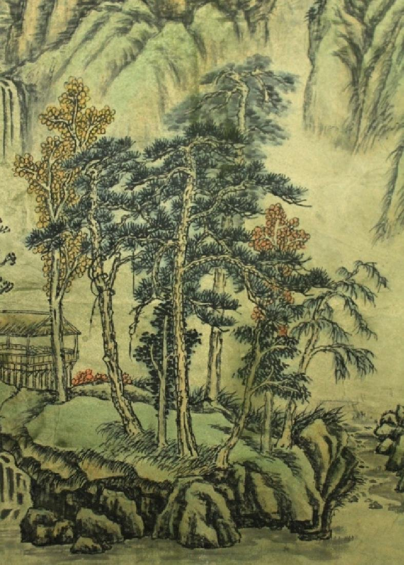 Chinese Scrolled Hand Painting Signed by Shi Tao - 7