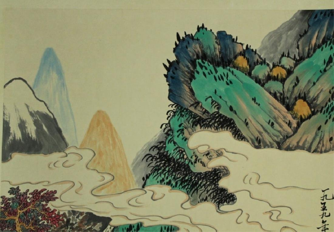 Chinese Scrolled Hand Painting Signed by Xie Zhi L - 3