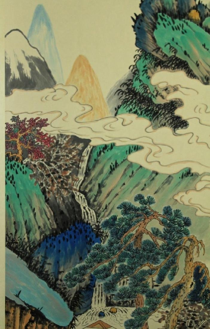 Chinese Scrolled Hand Painting Signed by Xie Zhi L - 5