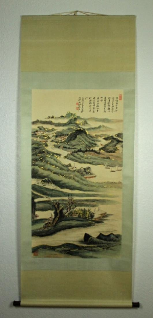 Chinese Scrolled Hand Painting Signed by Zhang Da - 2